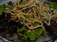 Легкий салат з куркою і омлетом «Корейська соломка»