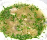 Легкий суп з курячими шлунками