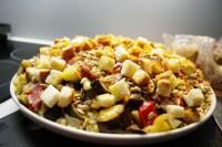 Макаронний салат із запеченими овочами