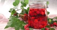 Малиновий компот з соком червоної смородини