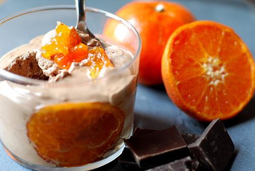 Мандариновий-шоколадний десерт