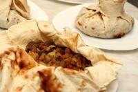 М'ясо з овочами в лаваші