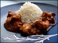 М'ясо, тушковане з рисом