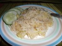 Молочно-рисова каша з кабачком