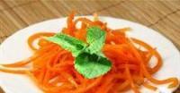 Морквяний салат з базиліком і горіхами