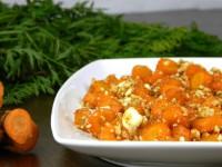 Морквяний салат з горіхами глазурований