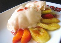 Морозиво кефіру-медово-бананове