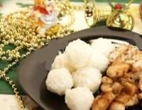 Новорічне гаряче «Рисові сніжки» з куркою