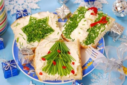 Новорічні бутерброди: приготування і красиве оформлення