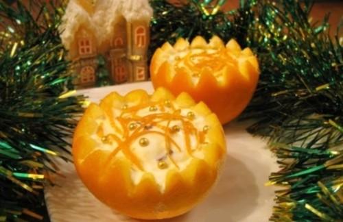 Новорічний десерт «Зимові апельсини»