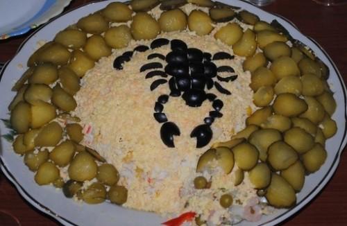 Новорічний курячий салат «Скорпіон»