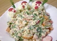 Новорічний салат «Снегурята»