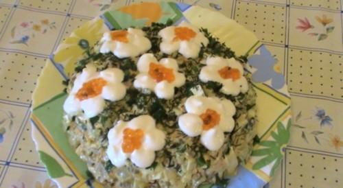 Новорічний салат «Восторг» з печінкою