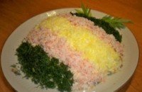«Новорічний куля» - салат з крабовими паличками і зеленню