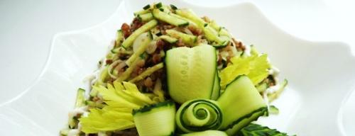Огірковий салат з гречкою