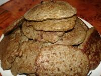 Оладки з печінки з хлібом