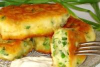 Оладки з зеленою цибулею на кефірі
