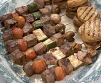 Гострі шашлики з яловичини з грибами