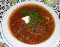 Гострий пісний томатно-цибулевий суп
