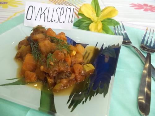 Овочеве рагу з баклажанами і кабачками