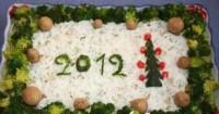 Овочевий новорічний салат легкий «2012»