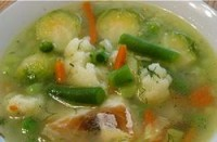 Пісний овочевий суп з рибою