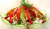 Овочевий салат з рисом