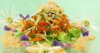 Овочевий салат з соусом авокадо