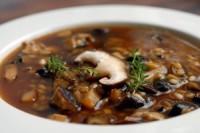 Вівсяно-грибний суп