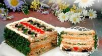 Паштетний бутербродний торт