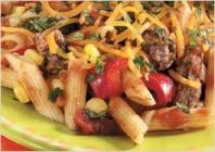 Паста з м'ясом і овочами