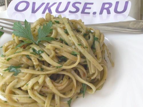 Паста з зеленим соусом, рецепт приготування з фото
