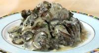 Печінка куряча з грибами