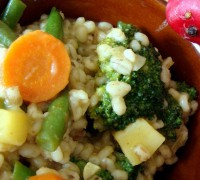 Перлова каша з овочами