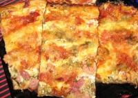 Піца на кефирном тесті