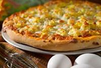 Піца з яловичиною та яйцями