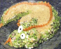 Пікантний новорічний салат з телятиною «Дракон»