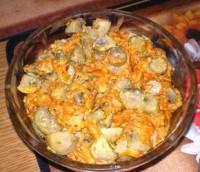 Пікантний гострий салат з печерицями до м'яса