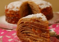 Пиріг блинчатый з ирисками