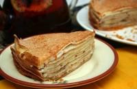 Пиріг «Млинцевий з начинкою з сиру»
