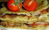 Пиріг на лаваші з грибами і овочами