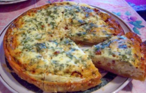 Пиріг по-українськи з салом