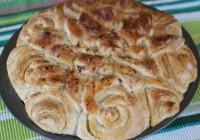 Пісний пиріг «Хризантема»