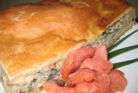 Пиріг пісний з червоною рибою