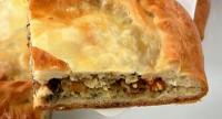 Пиріг з грибами і хеком