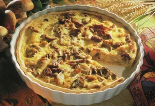 Пиріг з грибами по-українськи в мікрохвильовій печі