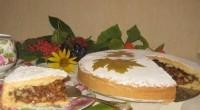 Пиріг з карамеллю з волоськими горіхами