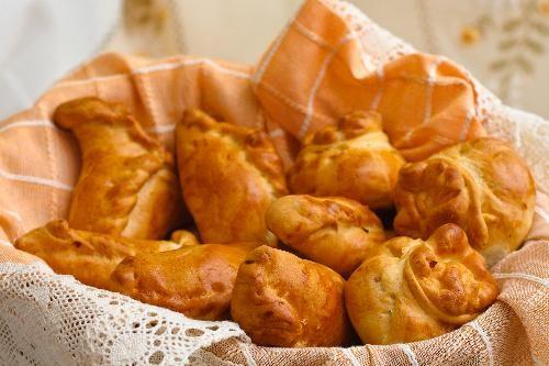 Пиріжки по-польськи з капустою і м'ясом