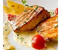 «Подушечки» з лососем і грибами