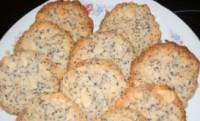 Пісне кокосово-мигдальне печиво з маком